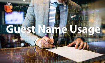 Guest Name Usage e-Learning