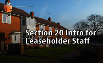 Section 20 Intro for Leaseholder Staff e-Learning