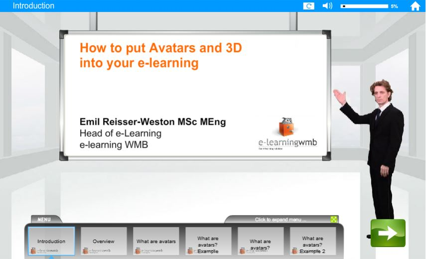 How to put Avatars and 3D into your e-Learning