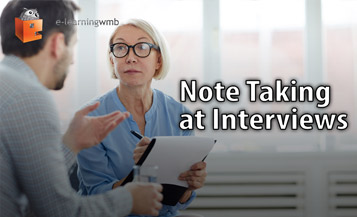 Note Taking at Interviews e-Learning
